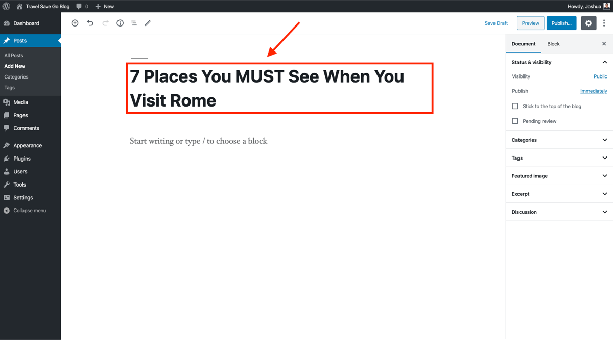How to Write a Blog Post Headline (Example and Screenshot) When You Start a New Blog