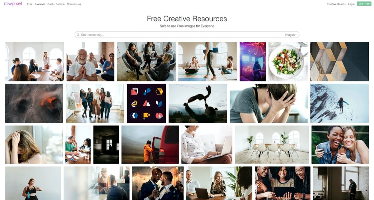 rawpixel free stock images for blog