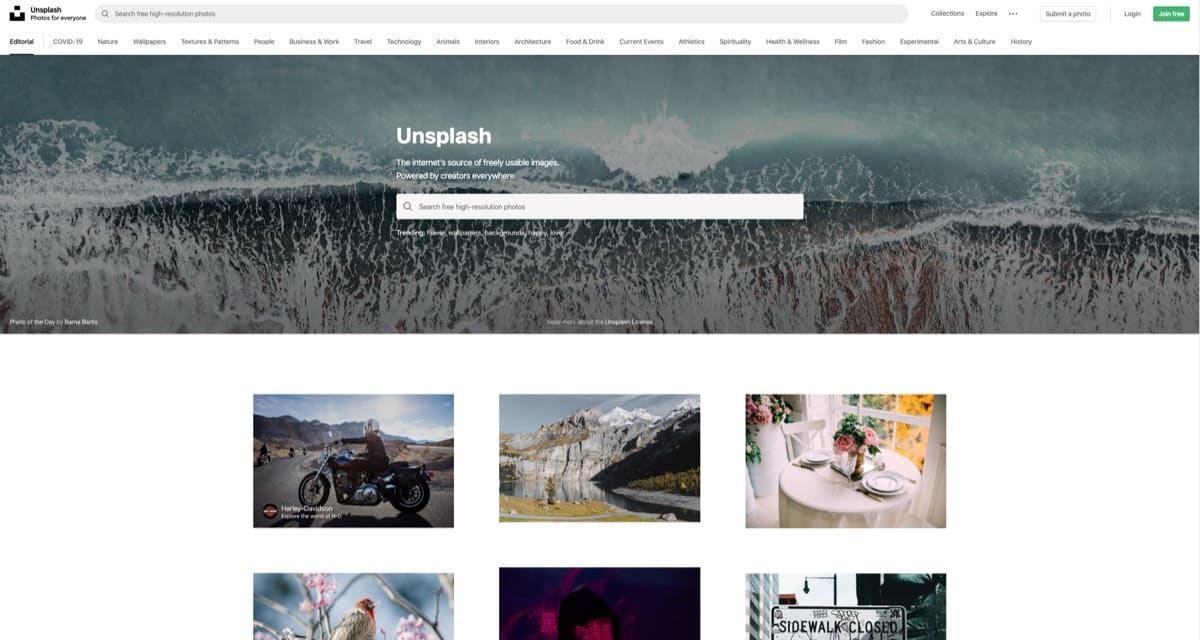 unsplash free stock images for blog