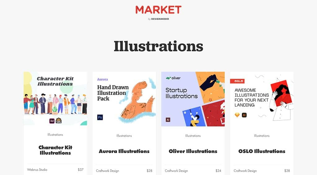 image of designmodo's illustrations page