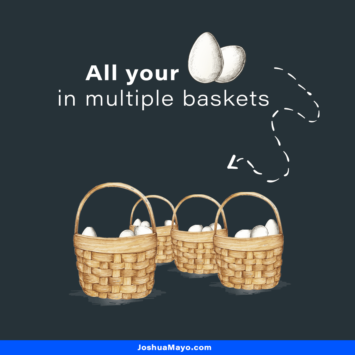 how to diversify your portfolio by putting all your eggs in multiple seoarate baskets