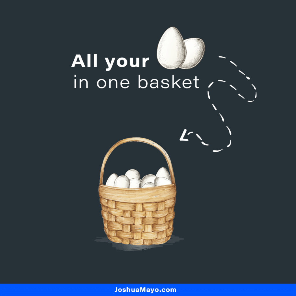 how not to diversify your portfolio by putting all your eggs into a single basket