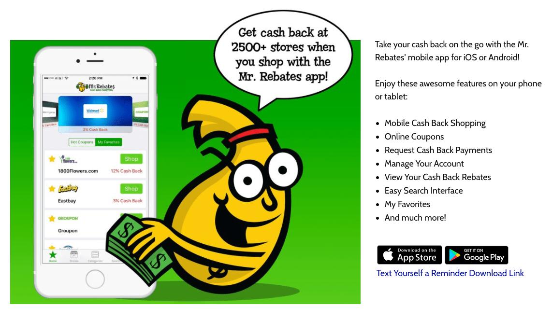 Mr. Rebates' Mobile App
