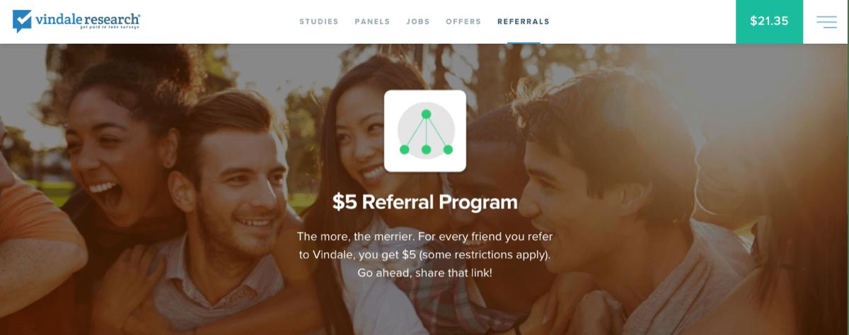 vindale research referral program
