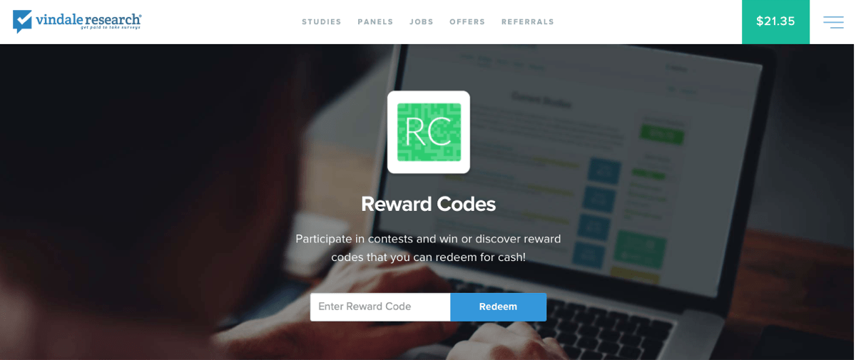vindale research rewards codes