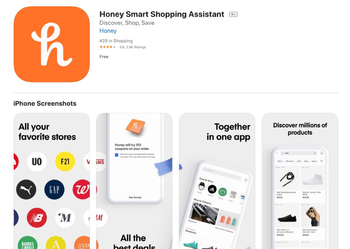 honey mobile app