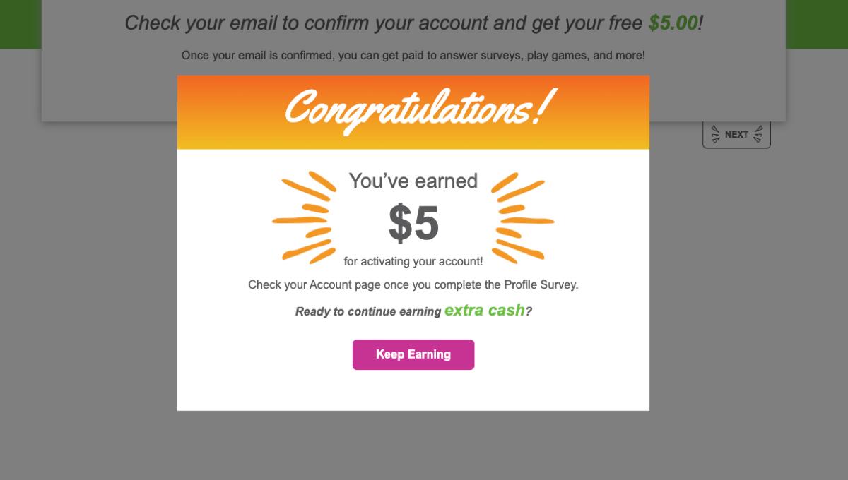 inboxdollars earn $5 bonus when you sign up