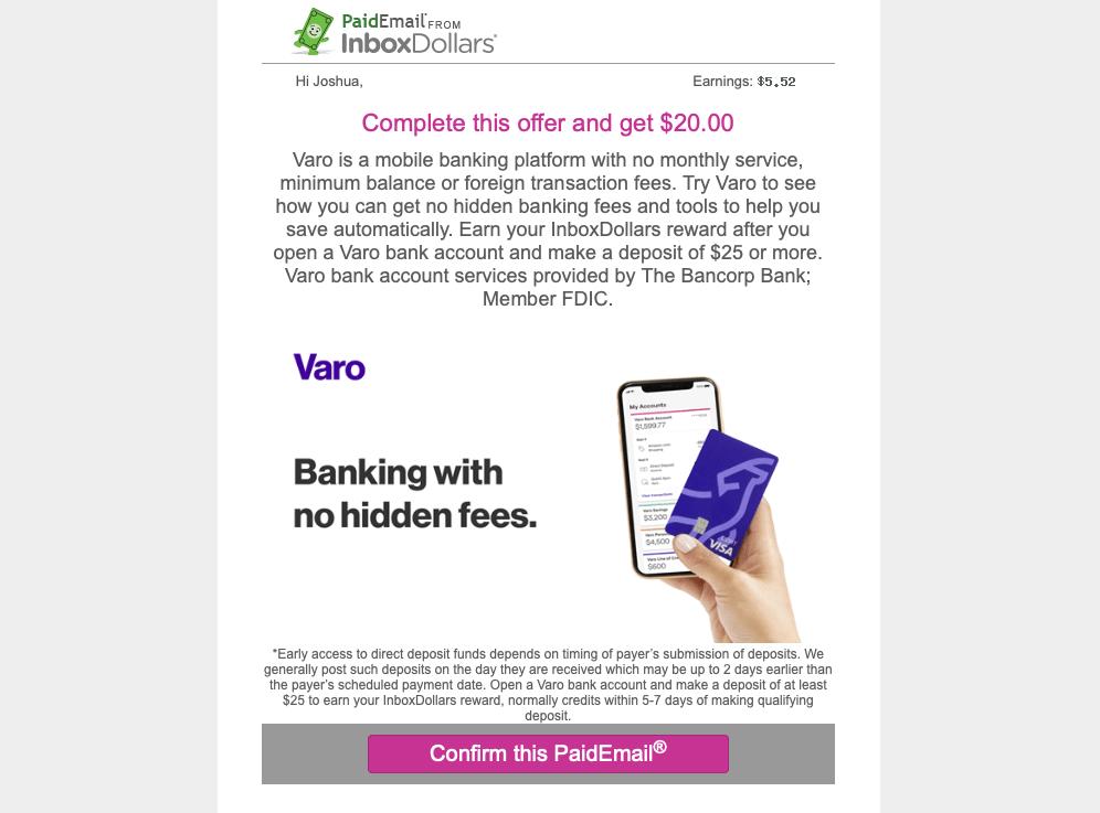inboxdollars paid email