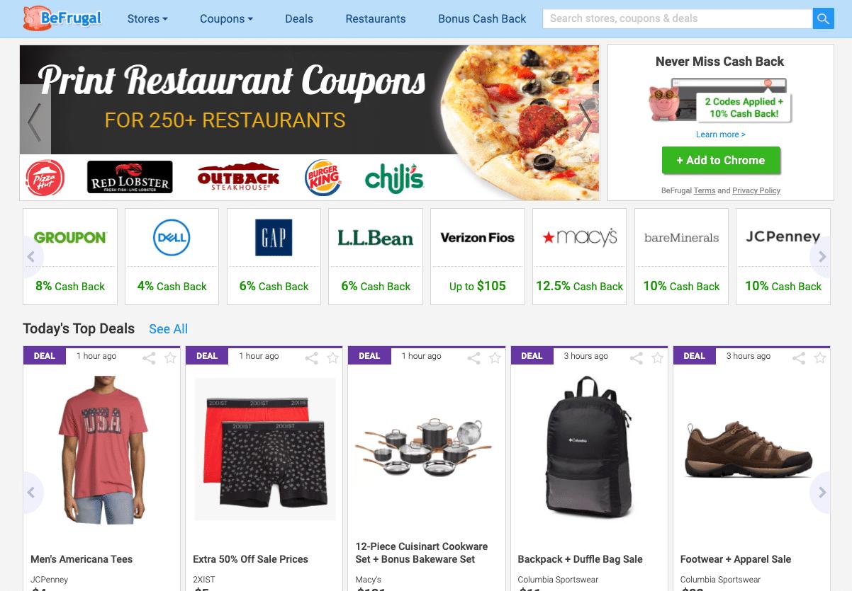 befrugal homepage
