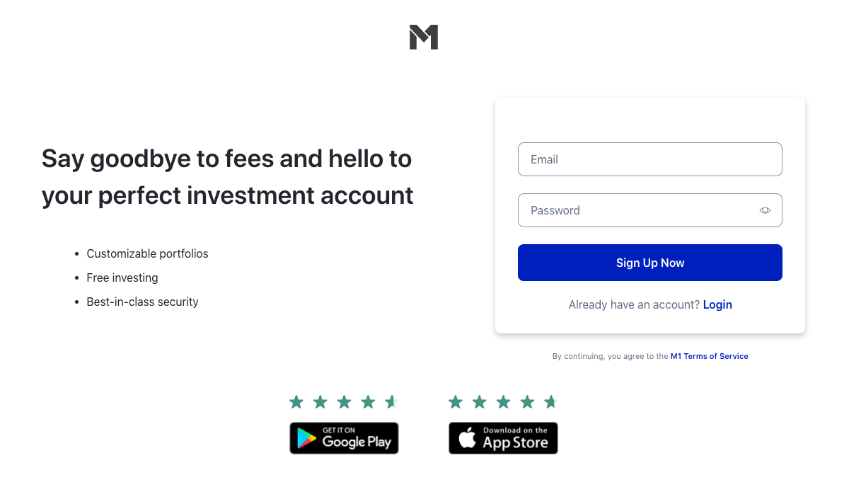 sign up for m1 finance