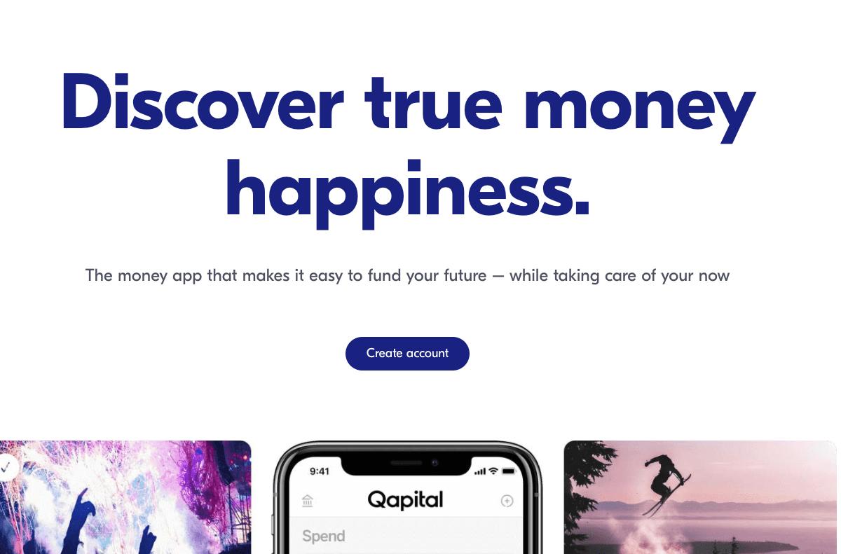 qapital website home page
