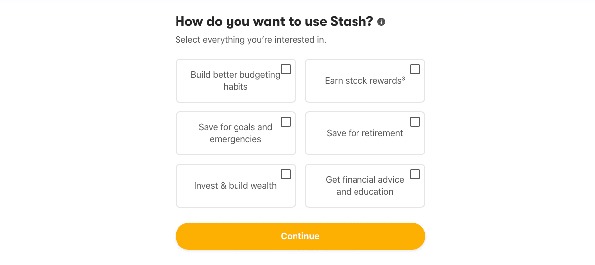 how do you want to use stash