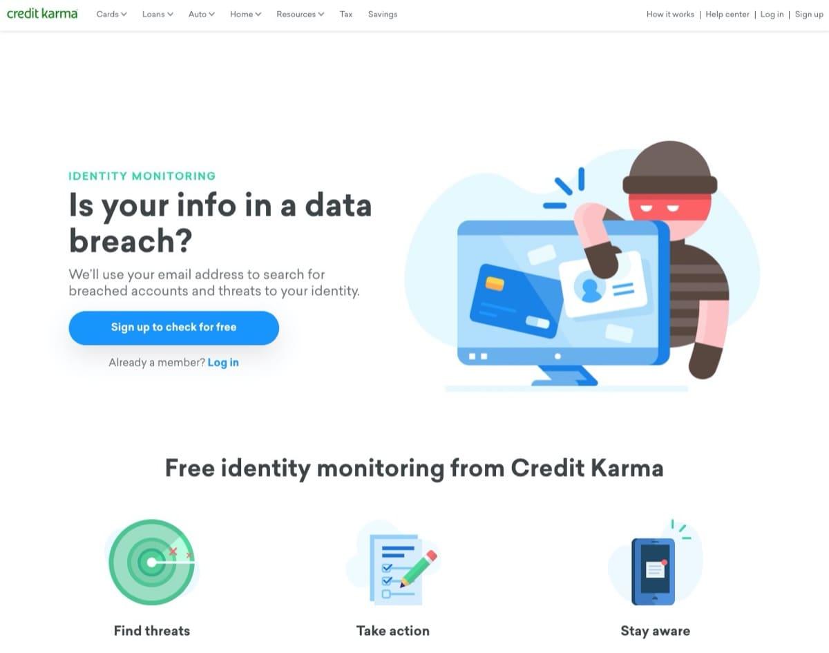 credit karma free identity monitoring