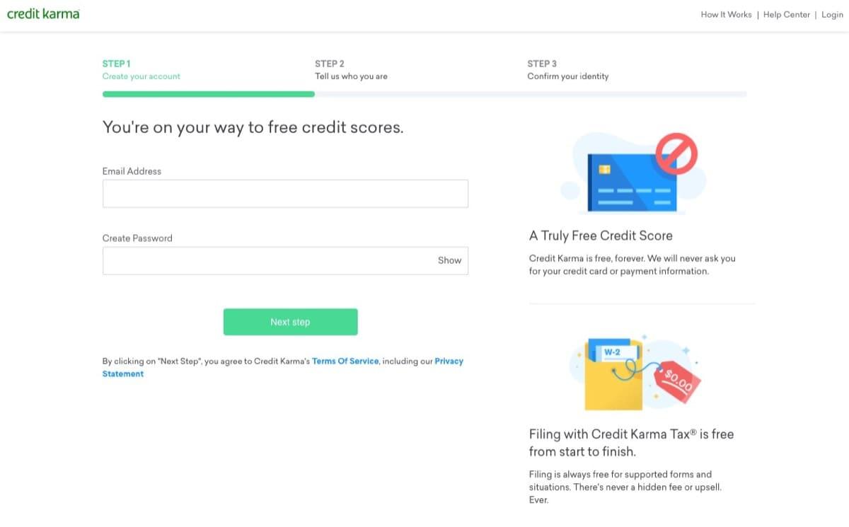 credit karma free account sign up