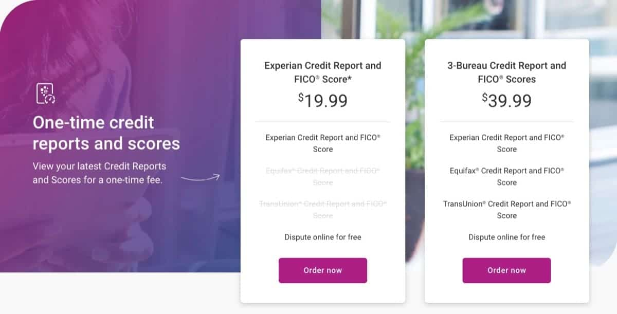experian one-time purchases